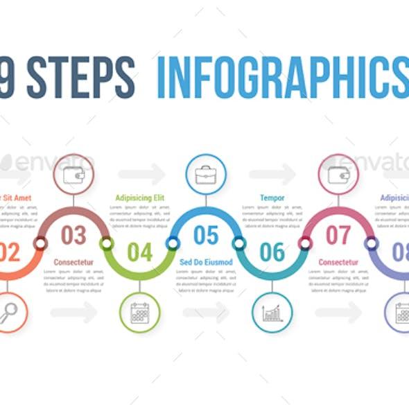 9 Steps Infographics
