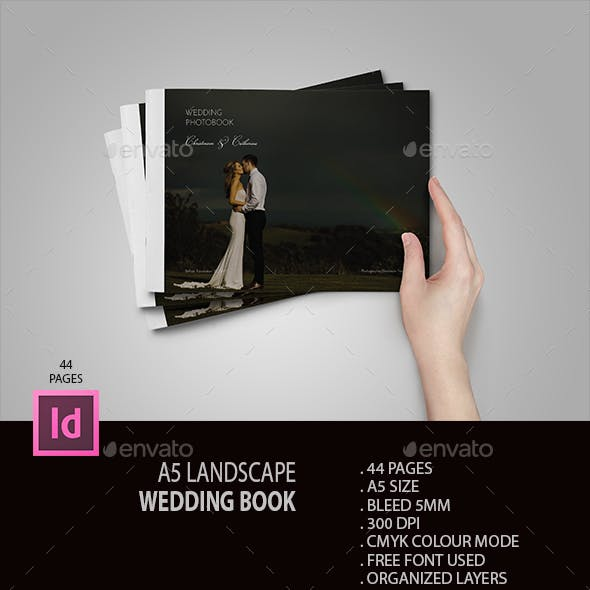 A5 Landscape Wedding Book
