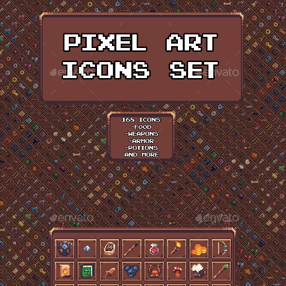 Pixel Art Icon Set