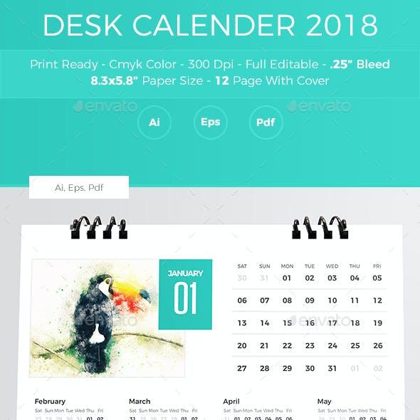 Desk Calender 2018