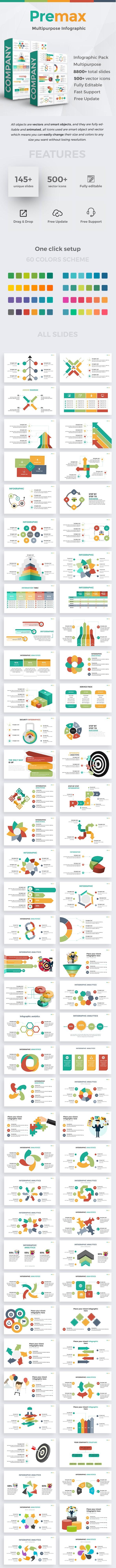 Premax Infographic Pack Google Slide Template - Google Slides Presentation Templates