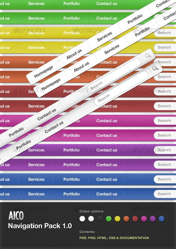 AICO Navigation Pack 1.0 - Web Elements