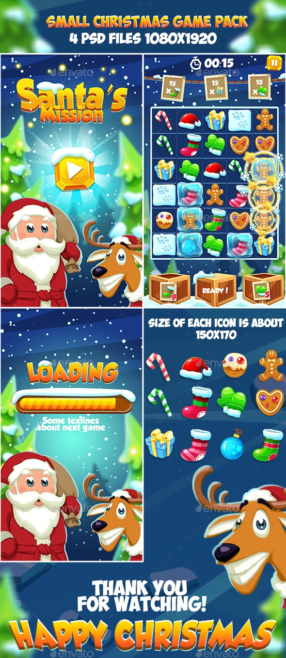 Christmas 2018 Small Game Pack - Game Kits Game Assets