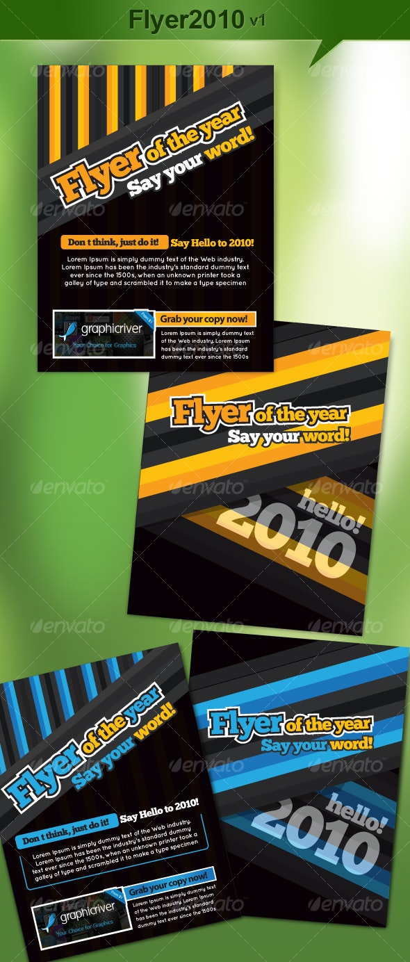 Flyer2010 v1. (a design for poor childrens) - Miscellaneous Events