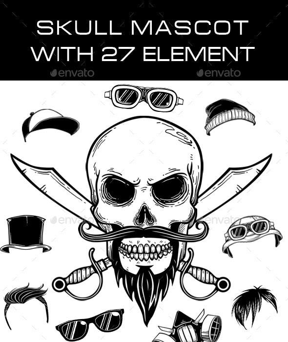 Skull Mascot - Characters Illustrations