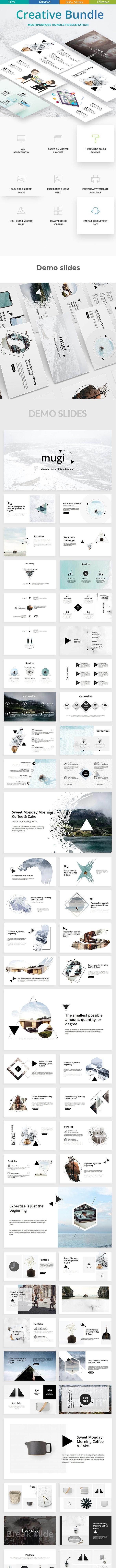 3 in 1 Creative Bundle Powerpoint Template - Creative PowerPoint Templates