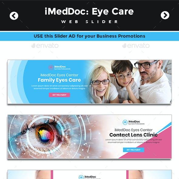 iMedDoc: Eye Treatment Center Web Sliders