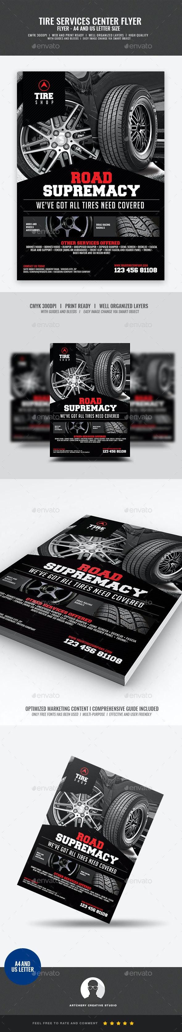 Tire Shop Flyer - Commerce Flyers