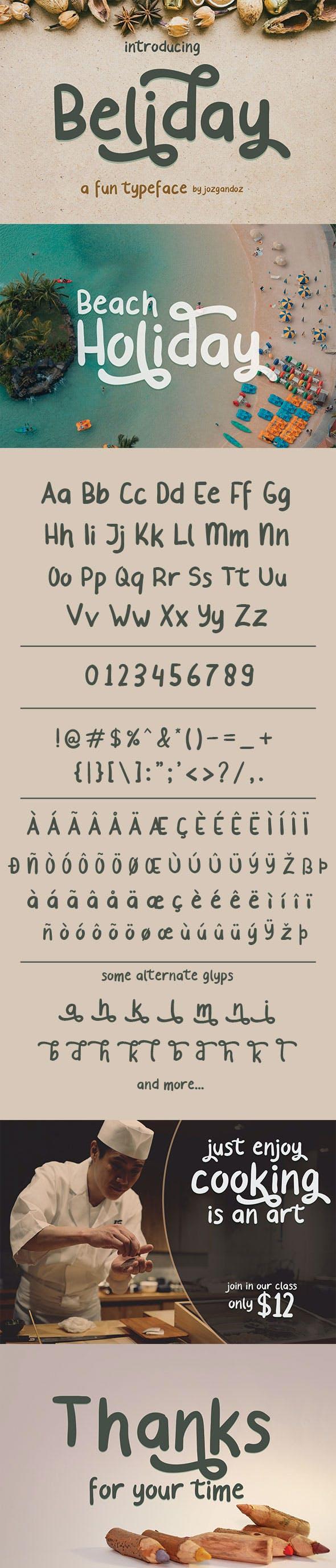 Beliday - Fun and Cute Font