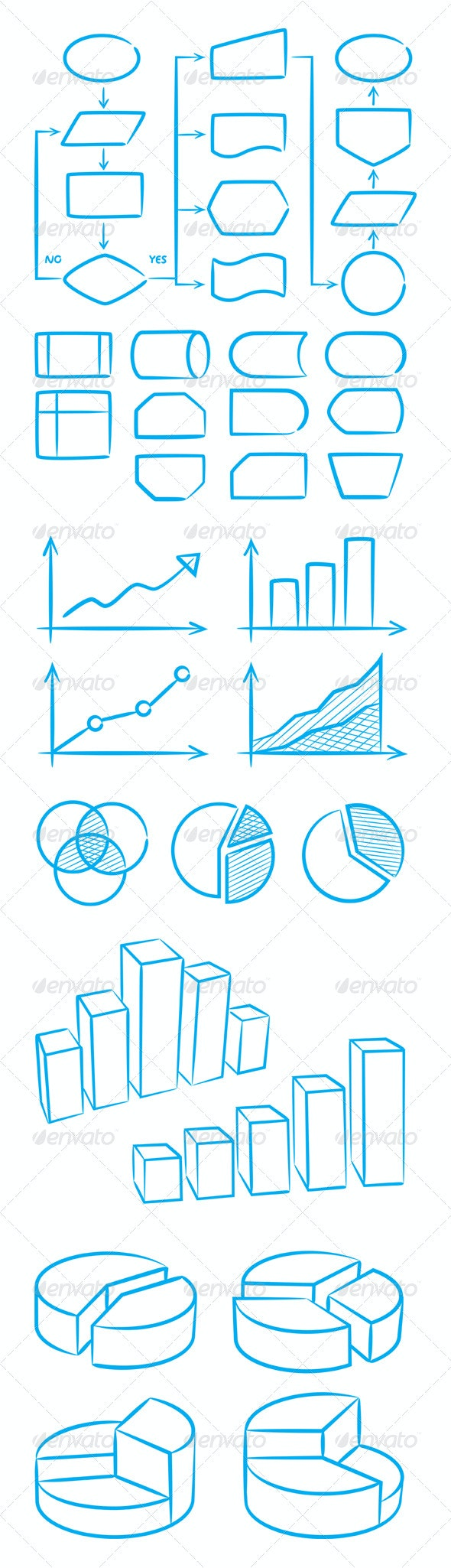 Business Flowchart and Graphs - Concepts Business