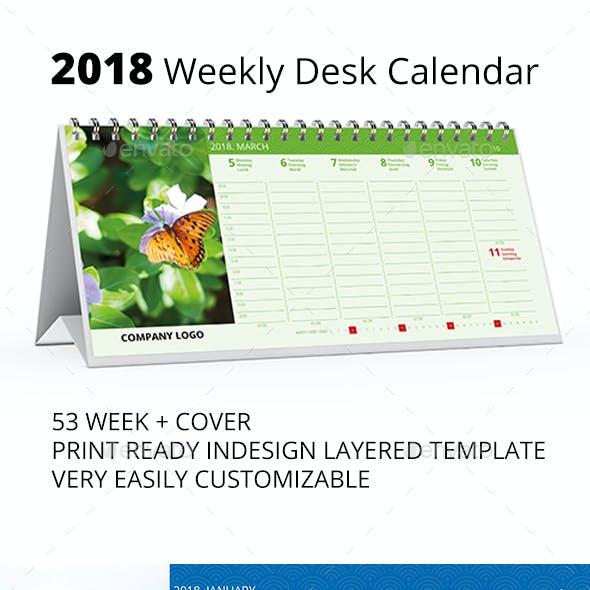 2018 Desk Calendar