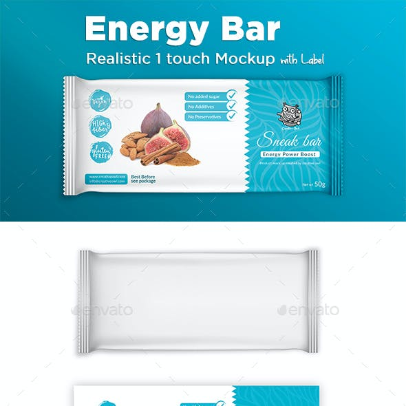 Energy Bar Label and Mockup