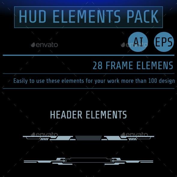 HUD Futuristic User Screen Interface Element Set