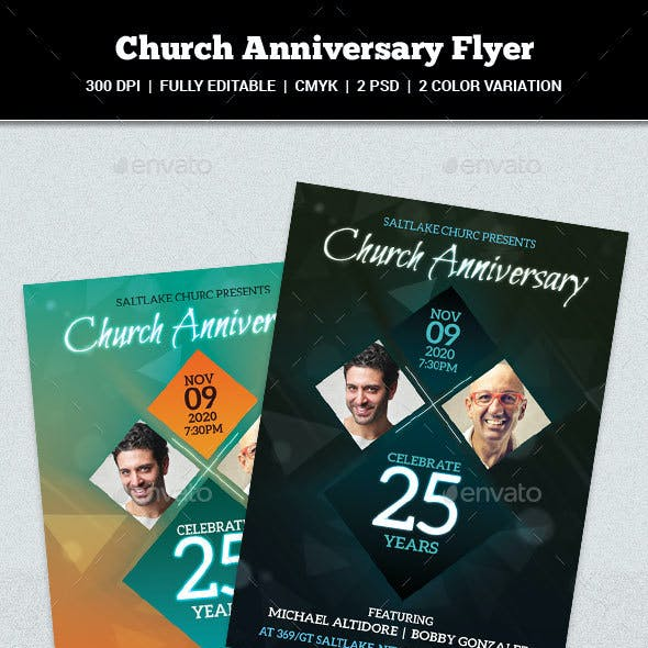 Church Anniversary Flyer