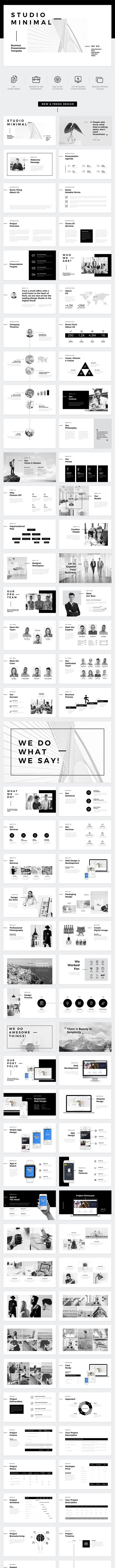 Studio Minimal Presentation PowerPoint Template - Business PowerPoint Templates