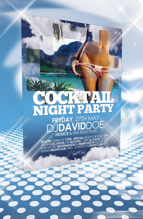 Cocktail Night Party Flyer - Clubs & Parties Events
