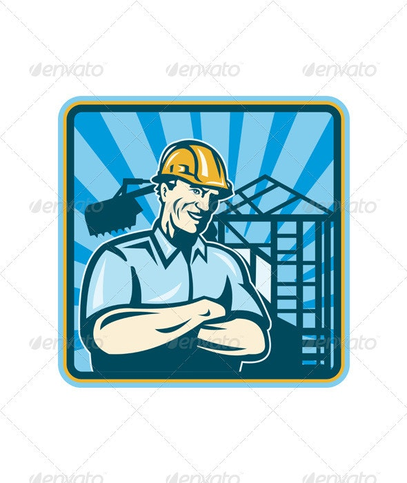 Construction Engineer Foreman Worker - People Characters