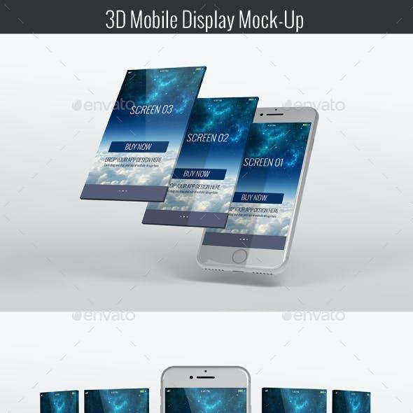 3D Mobile Display Mock-Up