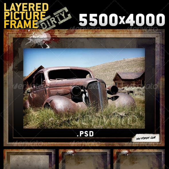 BIG Layered Dirty Picture Frame Template