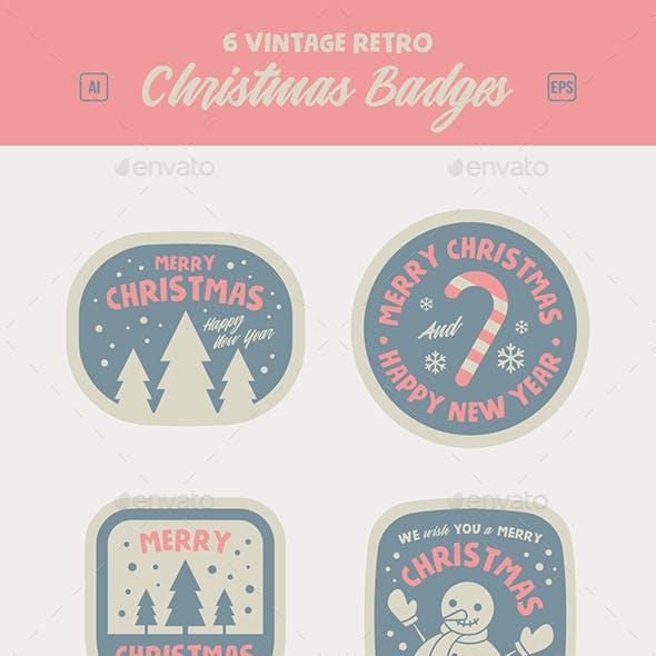 Retro Christmas Logo Badge