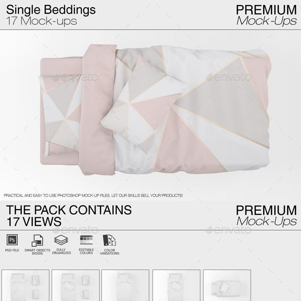 Single Bedding Mockup Pack