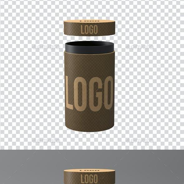 Kraft Cylinder Mockup