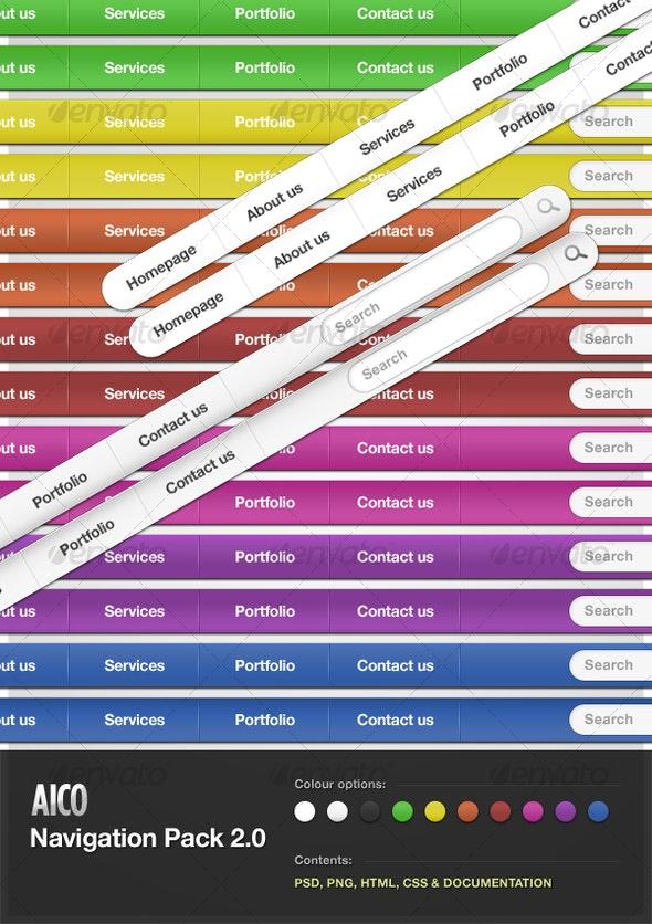 AICO Navigation Pack 2.0 - Web Elements