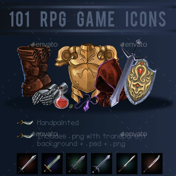 101 RPG Game Icons