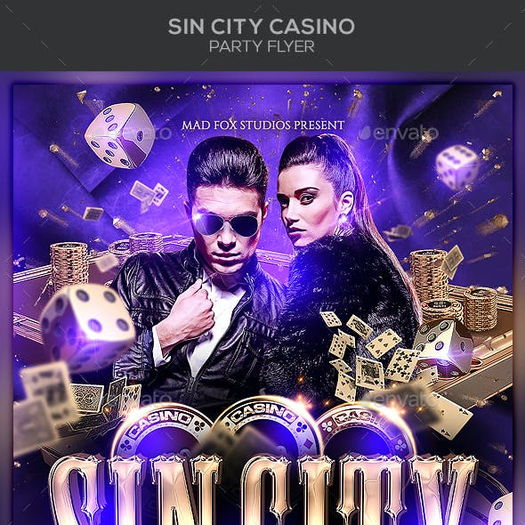 Sin City Casino Party Flyer