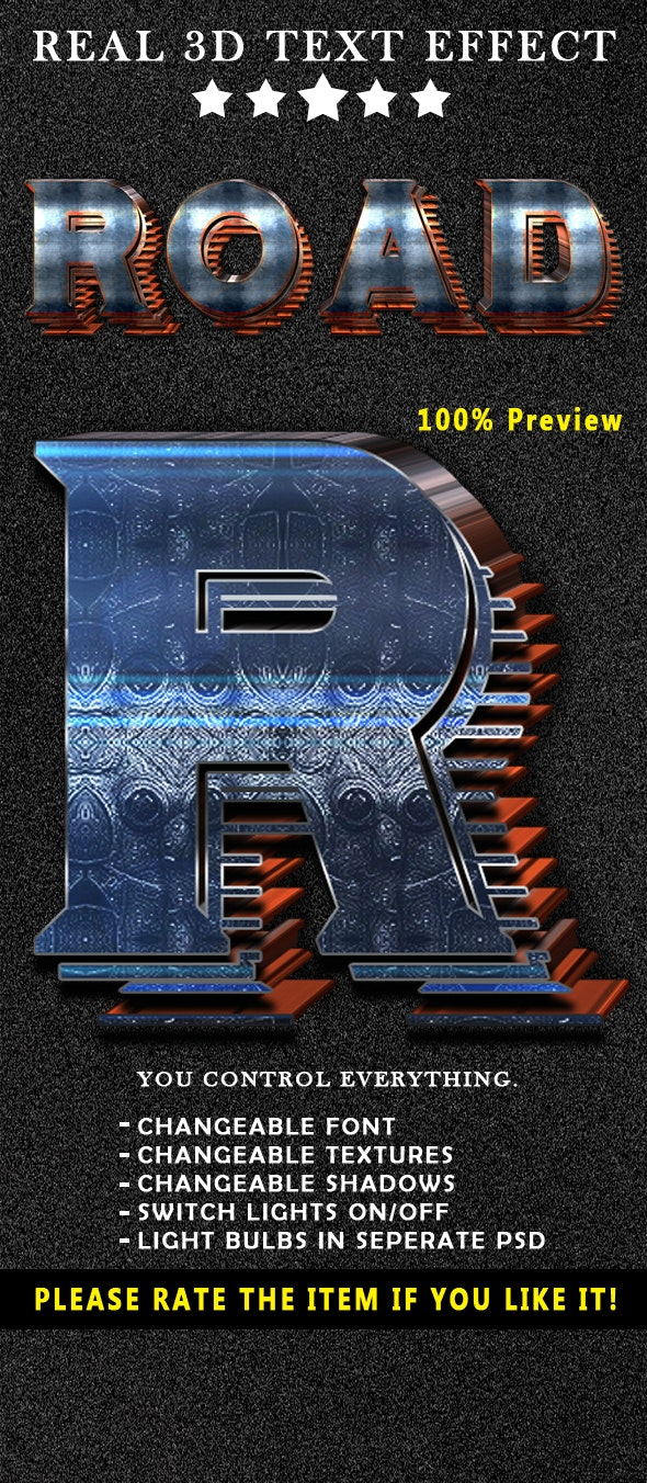 Real 3D Text Effects - Text Effects Styles