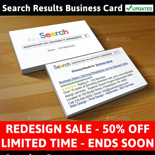 Search Results Business Card