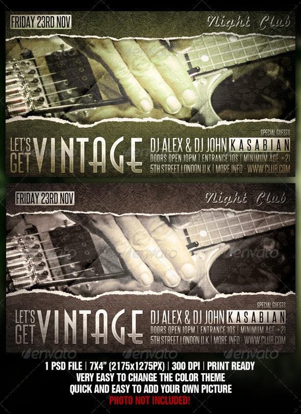 Vintage Flyer Design - Clubs & Parties Events