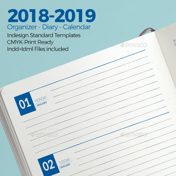 Weekly Diary Planner 2018-2019