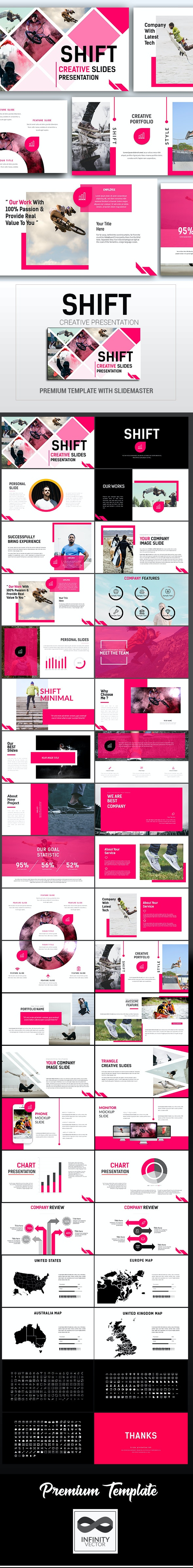 Shift Creative Presentation - PowerPoint Templates Presentation Templates