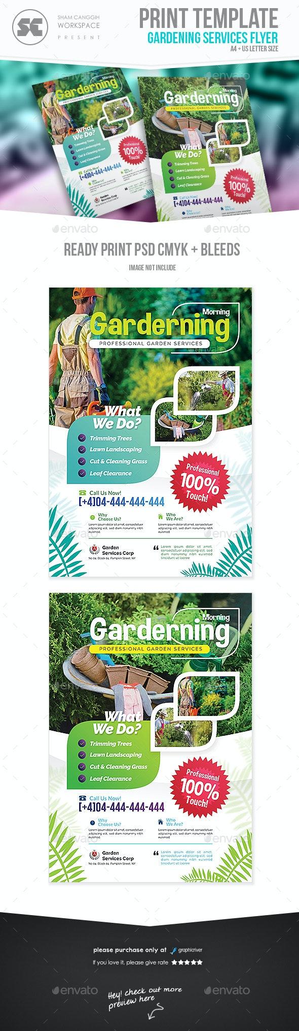 Garden Services Flyer - Commerce Flyers