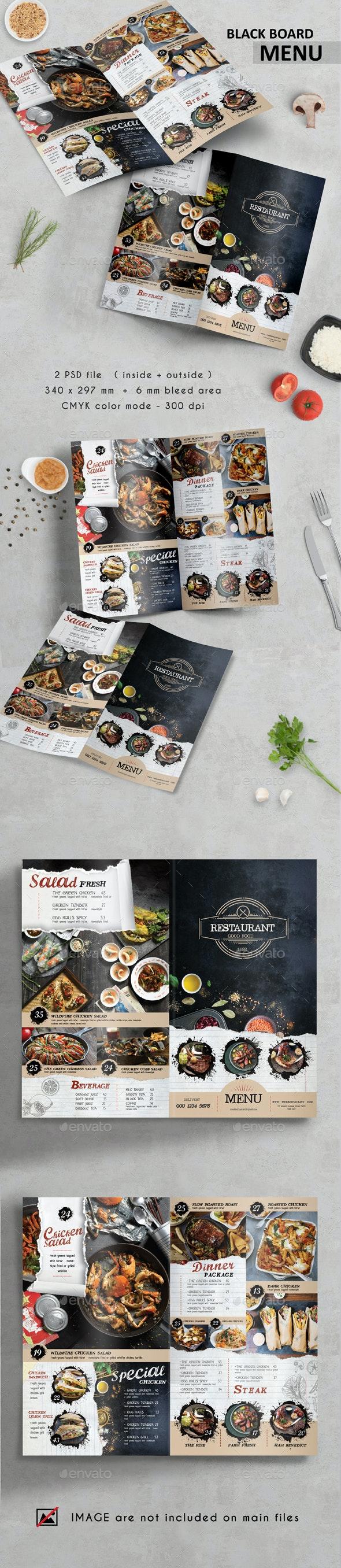 Black Board Menu - Food Menus Print Templates