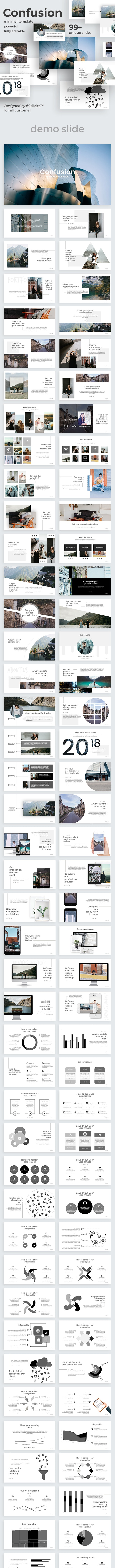 Confusion Creative Powerpoint Template - Creative PowerPoint Templates