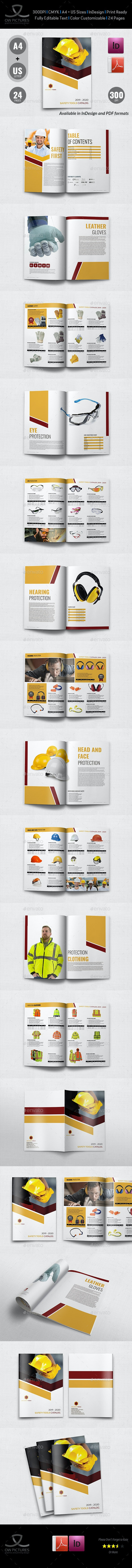 Safety Tools Catalog Brochure Template - 24 Pages - Catalogs Brochures