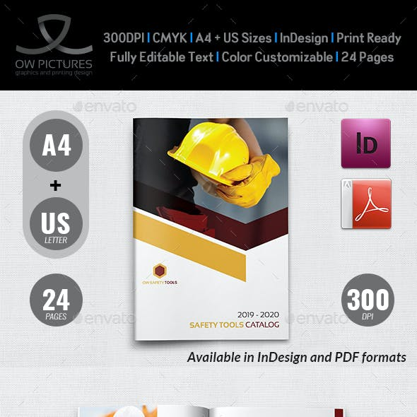 Safety Tools Catalog Brochure Template - 24 Pages