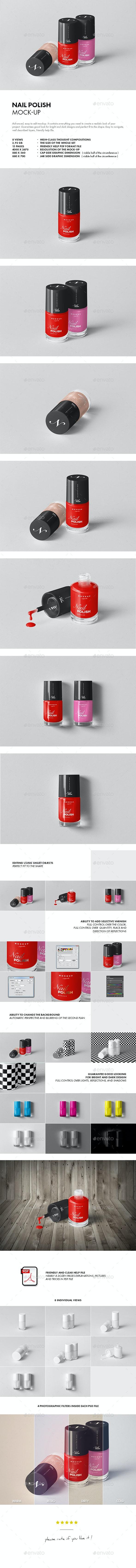 Nail Polish Mock-up - Beauty Packaging