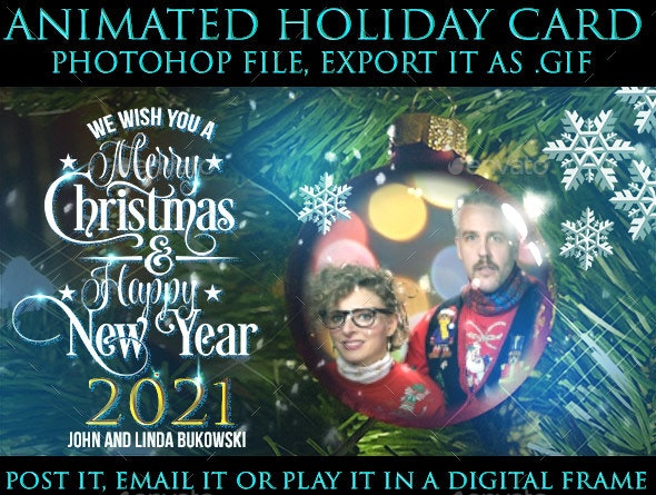 Animated Holiday eCard GIF Generator for Photoshop - Miscellaneous Photo Templates
