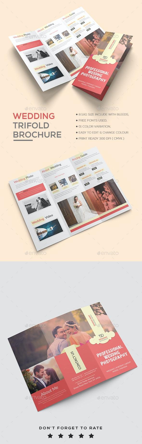 Wedding Brochure template - Brochures Print Templates