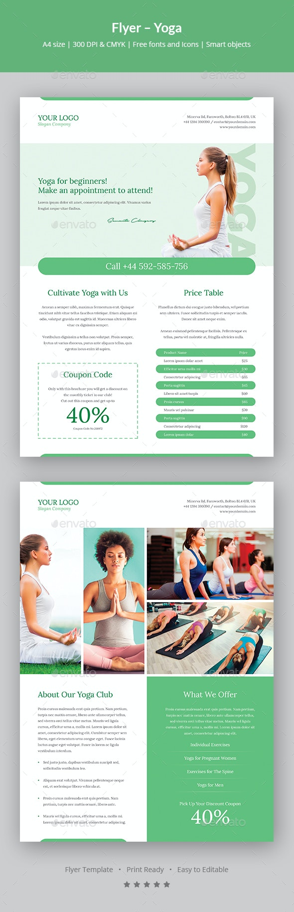 Flyer – Yoga - Sports Events