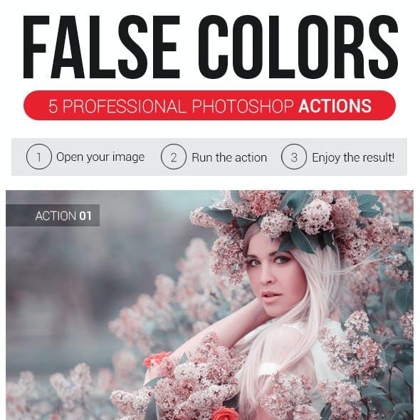 False Colors   5 Professional Photoshop Actions