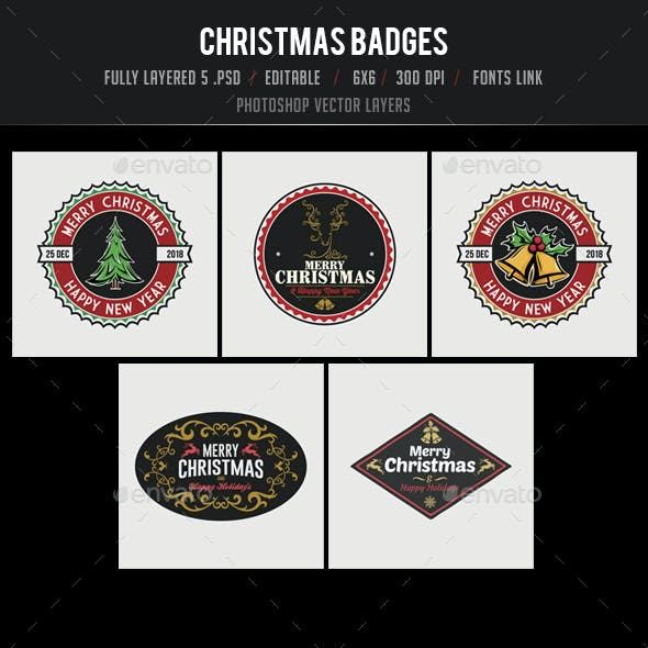 5 Christmas Badges