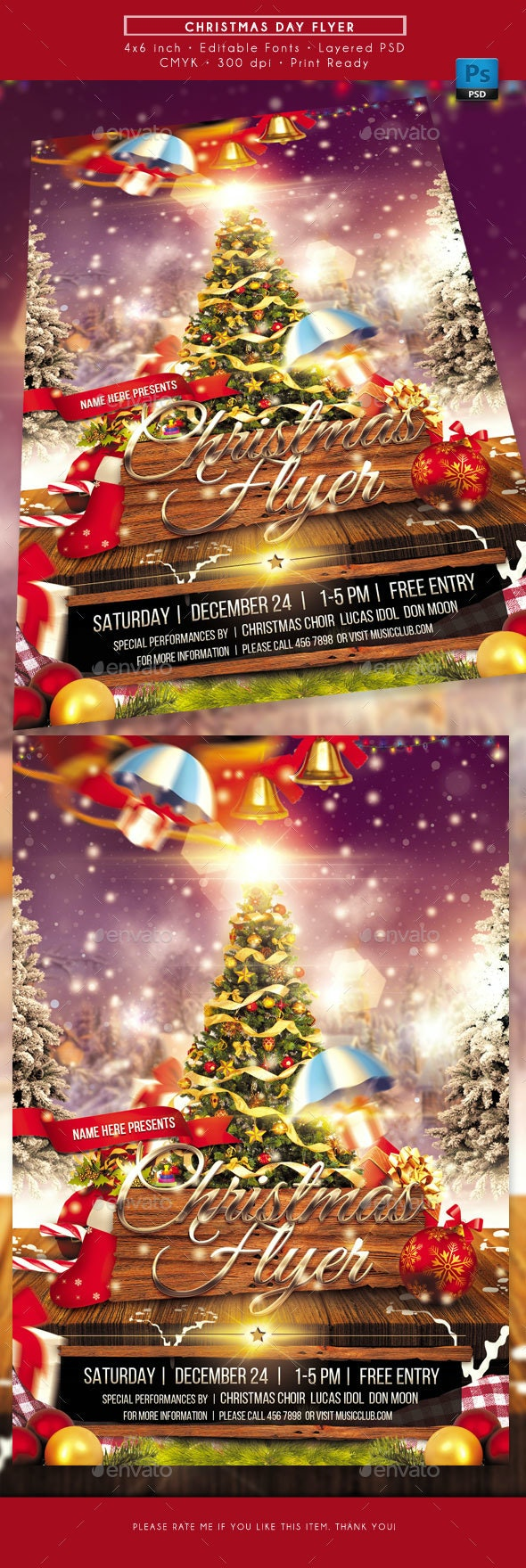 Christmas Day Flyer - Holidays Events