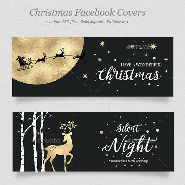 2 Christmas Facebook Covers Vol.2