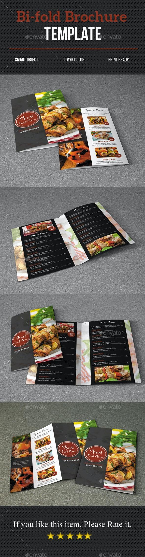 Sushi Food Menu Brochure - Food Menus Print Templates