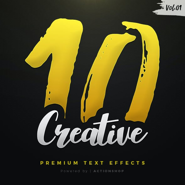 10 Creative Text Effects Vol.1