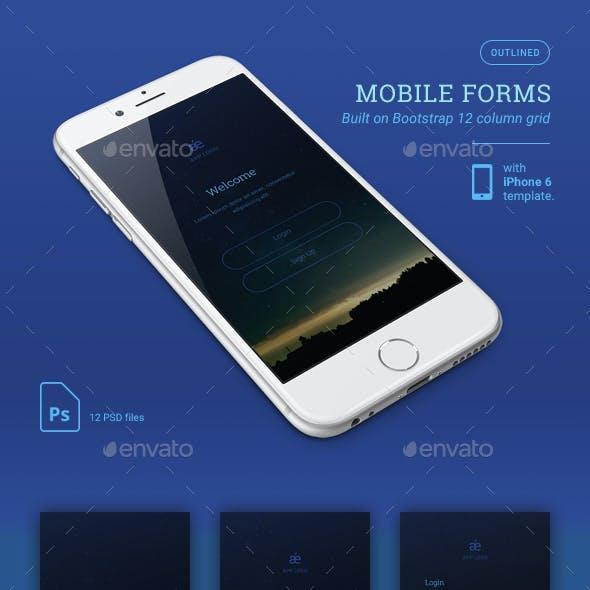 Dark Mobile App Forms
